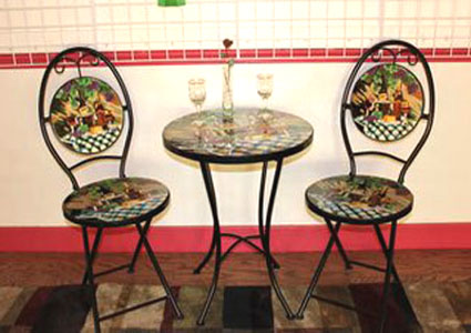 hand painted bistro set